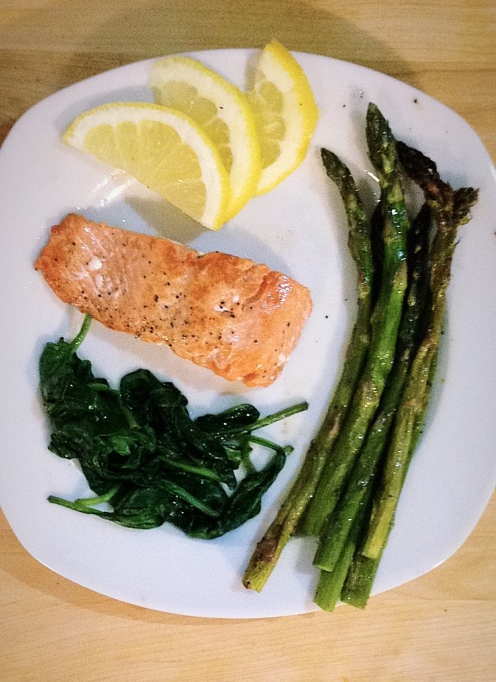 A Simple Salmon Recipe for a Dinner for Two!