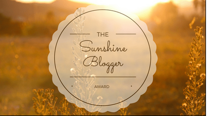 Sunshine Blogger Award!!