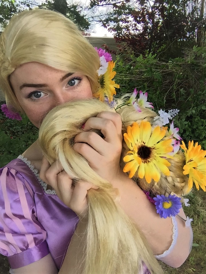 DIY Flower Wig